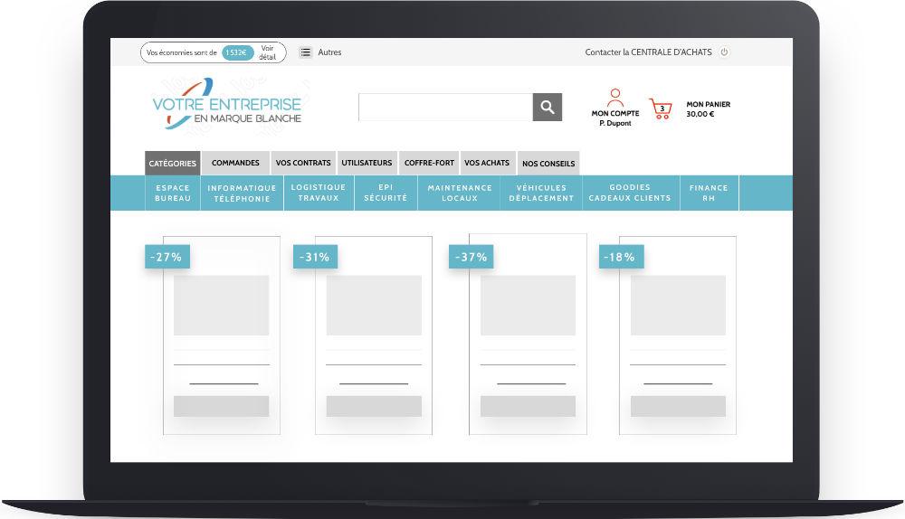 Portail d'achats pour les groupements d'entreprises en Marketplace