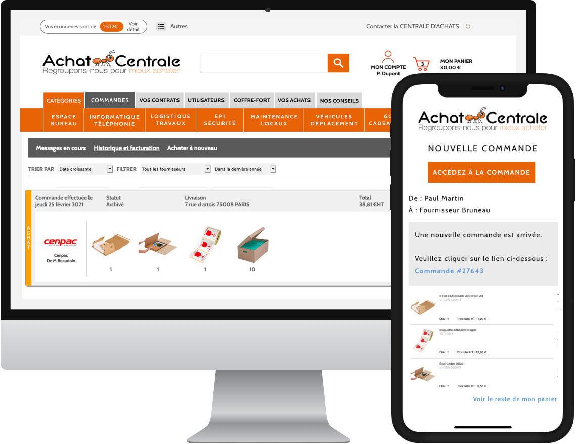 Économisez vos achats en frais généraux avec la centrale d'achats en ligne